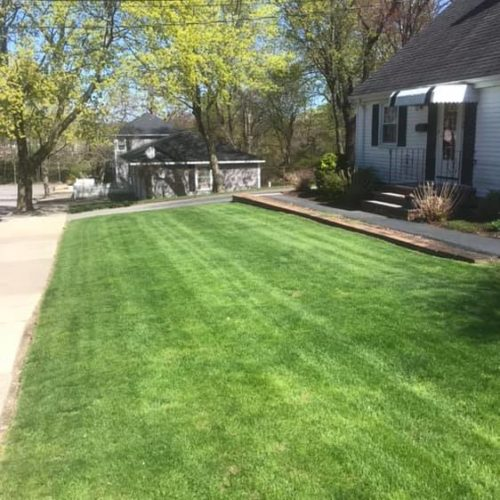 Beautifully Fertilized Lawn by Green Horizons Landscaping
